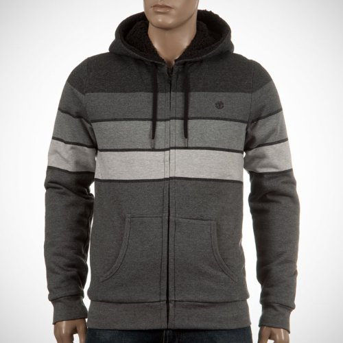 Element Men's Landon Sherpa Lind Zip Hoodie - Grey Heather (M)