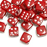Zacoo 10g 40pcs Approx Acrylic Plastic Beads Red Cube Dice 6x6x6mm Jewelry DIY Bead 6x6mm 1.5mm hole AR382