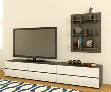2-Pc Eco-Friendly Entertainment Set in White Finish