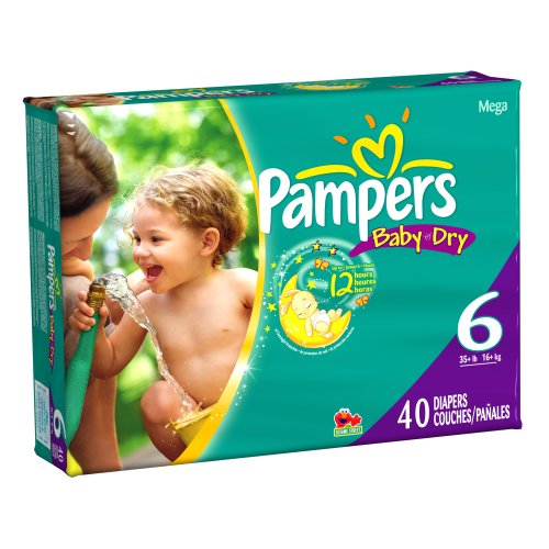 Pampers Baby Dry Size 6 Diapers Mega Pack 40 Count