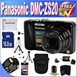 Picture Of Panasonic Lumix ZS20 14.1 MP High Sensitivity MOS Digital Camera with 20x Optical Zoom + 16GB SDHC Class 10 Memory + Extended Life Battery + USB Card Reader + Memory Card Wallet + Deluxe Case w/Strap + Mini HDMI to HDMI Cable + Shock Proof Deluxe Case + Professional Full Size Tripod + DMCZS20 Accessory Saver Bundle!