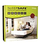 Sleepsafe Cotton Based Waterproof Mattress Protector- Queen Size, White