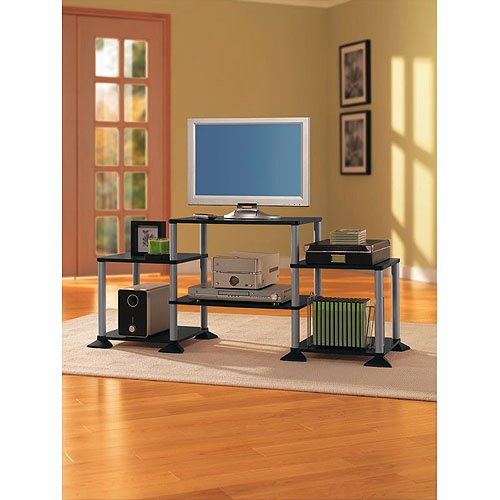 "Entertainment Center For Tvs Up To 32"", No Tools Required, Sturdy Construction"