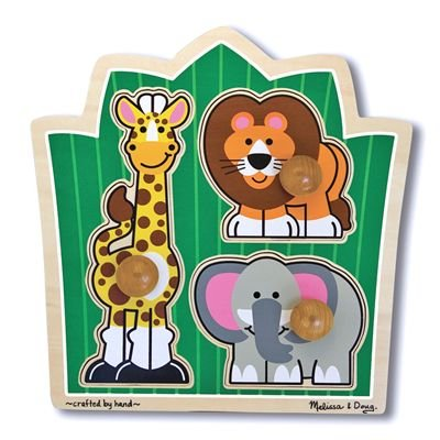 Melissa & Doug Jungle Friends (Safari) Jumbo Knob Puzzle