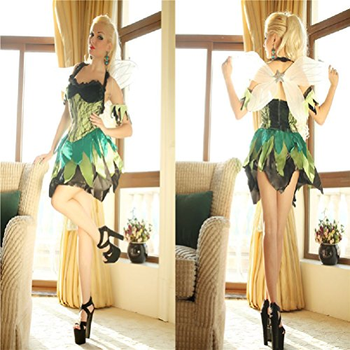 Purplebox Halloween Dress Angel Clothes Clothing Green Elf Costumes Genie Costumes