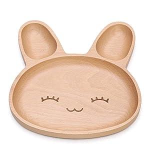 Zabrina Eco-friendly Cute Animal Shape Natural Wood Plate
