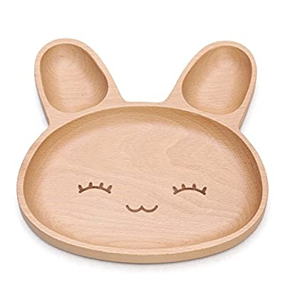 Zabrina Eco-friendly Cute Animal Shape Natural Wood Plate