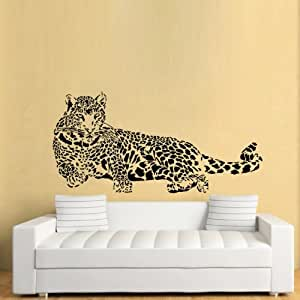 lovely animal panther leopard print spot self adhesive wallpaper art