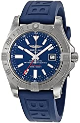Breitling Avenger II GMT Automatic Blue Dial Blue Rubber Mens Watch A3239011-C872BLPT3