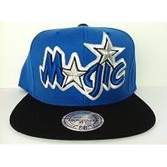 Mitchell and Ness NBA Orlando Magic Big Logo Snapback Cap, Hat by Mitchell & Ness