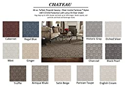 2\'x3\' Charcoal - CHATEAU - Custom Carpet Area Rug - 40 Oz. Tufted, Pinpoint Saxony - Nylon by Milliken (13 Colors to Choose From)