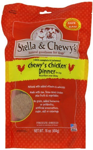 Stella & Chewy's Freeze Dried Dog Food for Adult Dogs, Chicken Patties, 15 Ounce Bag - 2 Pack (Stella Chewy Freeze Dried Chicken compare prices)