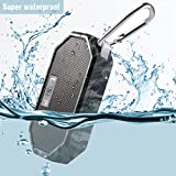 Waterproof Bluetooth Speaker,LESHP Bluetooth Wireless Portable Waterproof Pocket Speaker Shower Speaker  with Mic, Hands-free Calling Function for Shower, Travel, Hiking,Outdoor Activities