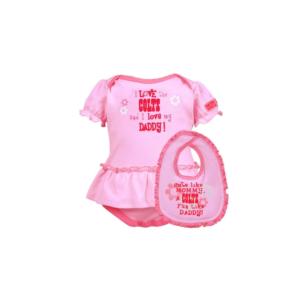 8b4ffdf0 Gerber Indianapolis Colts Infant Girls Pink Just Like Daddy 2 Piece ...