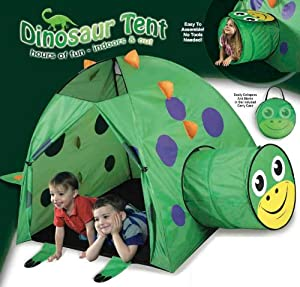 Dinosaur Play Tent and Tunnel- Indoor/Outdoor Collapsible Play Tent from Etna Products