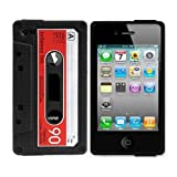 SANOXY Silicone Cassette Tape Case / Skin / Cover for iPhone 4