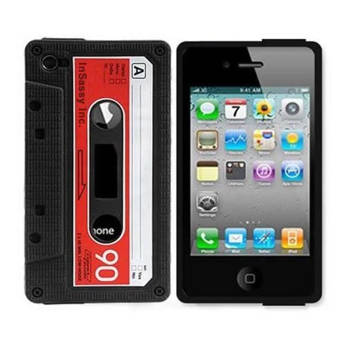 Silicone Cassette Tape Case / Skin / Cover for iPhone 4