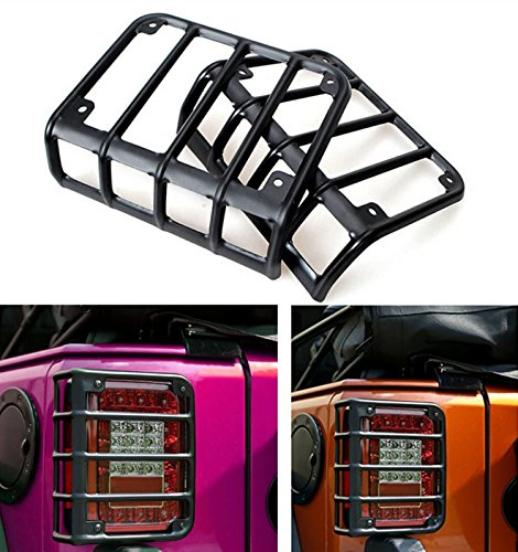 matte-black-rear-euro-tail-light-guard-cover-protector-for-2007-2016-jeep-wrangler-pair
