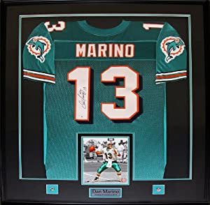 Dan Marino Miami Dolphins signed jersey frame by Midway Memorabilia