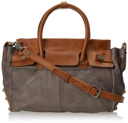 FRYE Tracy Satchel Top Handle Handbag,Slate,One Size