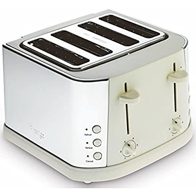 Prestige Cream Stainless Steel Electric 4 Slice Toaster With Variable Browning by Prestige