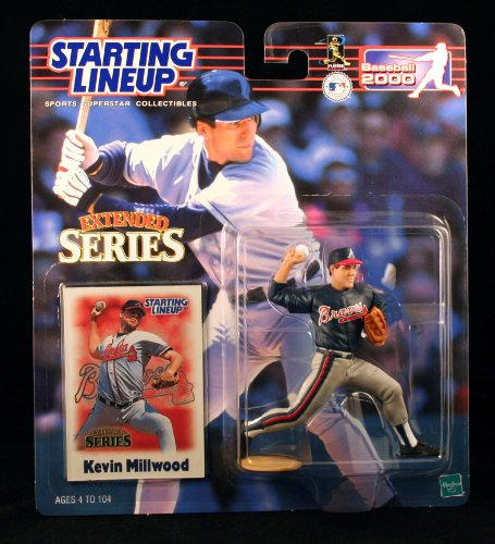 KEVIN MILLWOOD / ATLANTA BRAVES 2000 MLB Extended Series Starting Lineup Action Figure & Exclusive Collector Trading Card