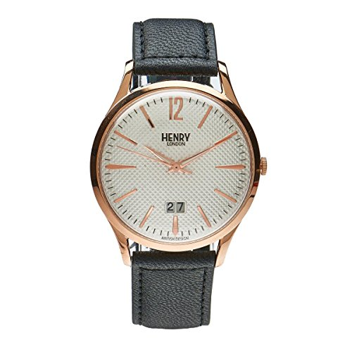 Henry London Richmond unisex orologio al quarzo con quadrante analogico al quarzo in pelle hl41 JS 0038