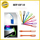 SET OF 10 Portable Flexible Energy-saving USB LED Lamp 5V 1.2W For Computer/PC Notebook Laptop Tablet Desktop...