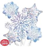 Glisaning Snow Flake Balloon Bouquet