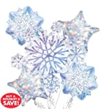 Glisaning Snow Flake Balloon Bouquet