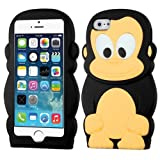 MYBAT Skin Case Cover for Apple iPhone 5/5S - Retail Packaging - Black Monkey Pastel