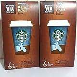 Starbucks VIA Italian Roast Decaf 2 pack - 14 packets