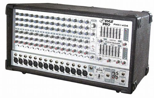 Pyle-Pro PMX1406 14 Channel 1200W Digital Powered Mixer with DSP