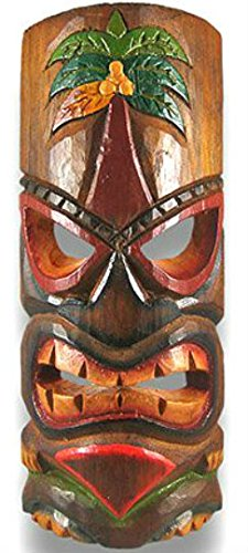 Polynesian Tiki Style Wall Mask Palm Tree 12 Inch