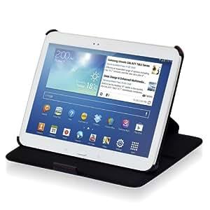 Manna - Sacoche/étui de protection luxe pour Samsung Galaxy Tab 3 10.1 GT-P5200 P5220 P5210 avec fonction de support et EasyStand / Couleur noir