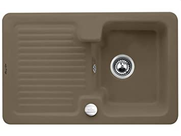 Villeroy & Boch Condor Kitchen Sink Ceramic Sink Installation Timber Brown 45