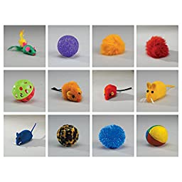 Zanies Kitty Playstation Refills: Corded Mice Cat Toys, 100 Pieces
