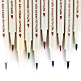Ohuhu Metallic Calligraphy Brush Marker Pens, Set of 10 For Valentine's Day Cards Birthday Greeting Gift Thank You Card, DIY Scrapbook Photo Album, Rock Art Painting, Brush Tip