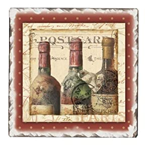 CounterArt French Cellar Tumbled Tile Trivet, 6-Inch by CounterArt