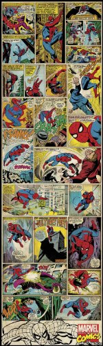 """Marvel Comics """"Spiderman"""" Classic Collage Wall Decal 17.25""""x60"""""""