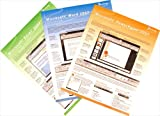 Microsoft Office 2007 Home & Student Quick Reference Card Bundle-3 MS Office Productivity Software Quick Start Training Cards: Learn Word, Excel & PowerPoint. Computer Shortcuts, Cheats, Tips & Tricks Guides. 6 Pages Ea, Tri-Fold. Stores Easy. (Software Quick Reference Cards)