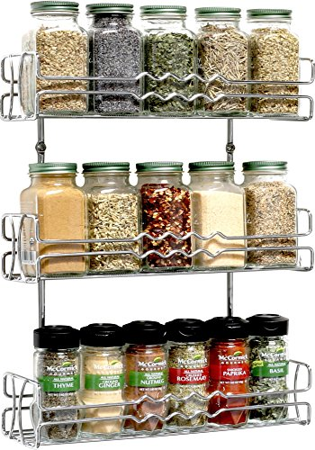 DecoBros 3 Tier Wall Mounted Spice Rack, Chrome (Deco Spice Jar compare prices)