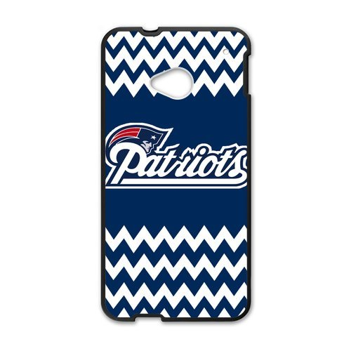 Blue And White Chevron New England Patriots Htc One M7 Shell Case Cover (Laser Technology)