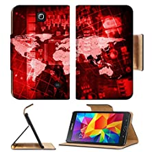 buy Msd Premium Samsung Galaxy Tab 4 7.0 Inch Flip Pu Leather Wallet Case Abstract Background Microcircuit And World Map Computer Technology Concept Image Id 25000595