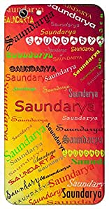 Saundarya (beautiful) Name & Sign Printed All over customize & Personalized!! Protective back cover for your Smart Phone : Moto G-4-PLAY