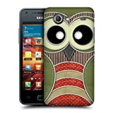 Head Case Designs Green Owl Patchwork Protective Snap-on Hard Back Case Cover for Samsung Galaxy S Advance I9070