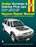 img - for Dodge Durango & Dakota Pick-ups: Durango 2000 thru 2003 Dakota 2000 thru 2004 (Hayne's Automotive Repair Manual) book / textbook / text book