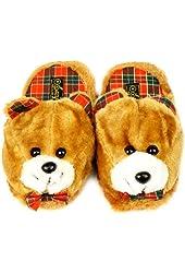 Cute Bear Animal Plush Cushion Indoor Outdoor NonSlip Grip Sole Slippers S 5-6