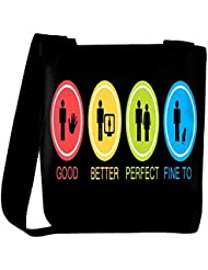 Snoogg Good Better Perfect Fine Too Womens Carry Around Cross Body Tote Handbag Sling Bags