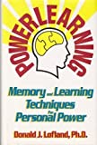 img - for Powerlearning: Memory and Learning Techniques for Personal Power by Donald J. Lofland (1992-08-01) book / textbook / text book